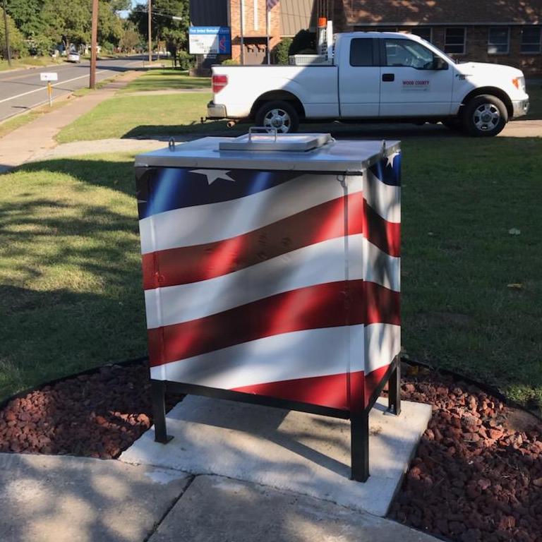 BSA Troop 36 Flag Drop Box at First United Methodist Church Quitman